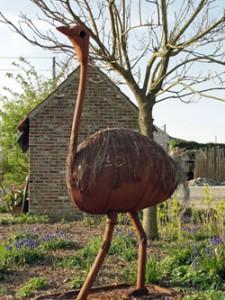 Struisvogelkunstwerk