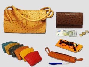Struisvogelleer Handtas, portefeuille & accessoires