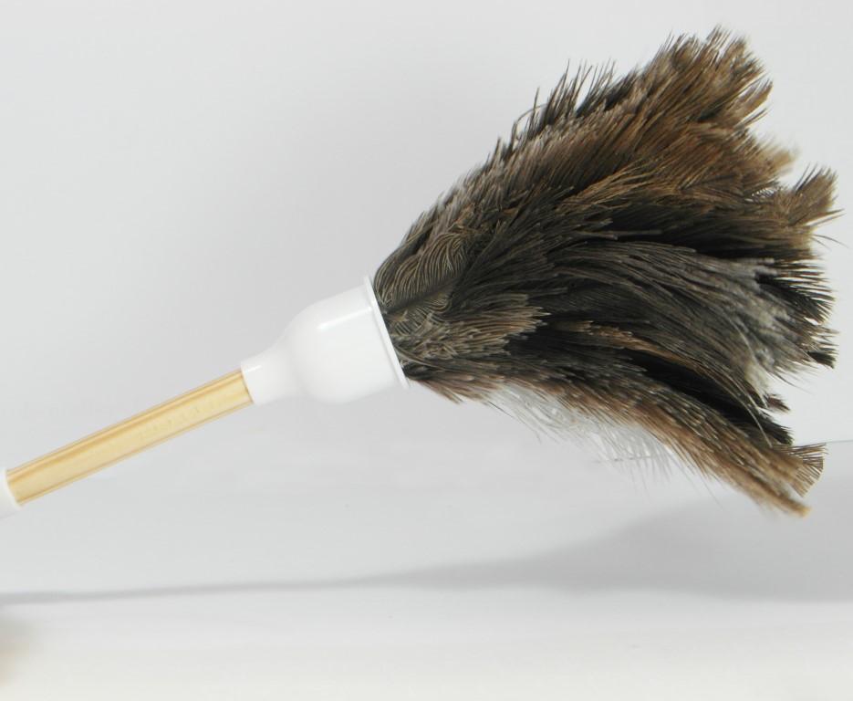 Kleine plumeau van struisvogelveren