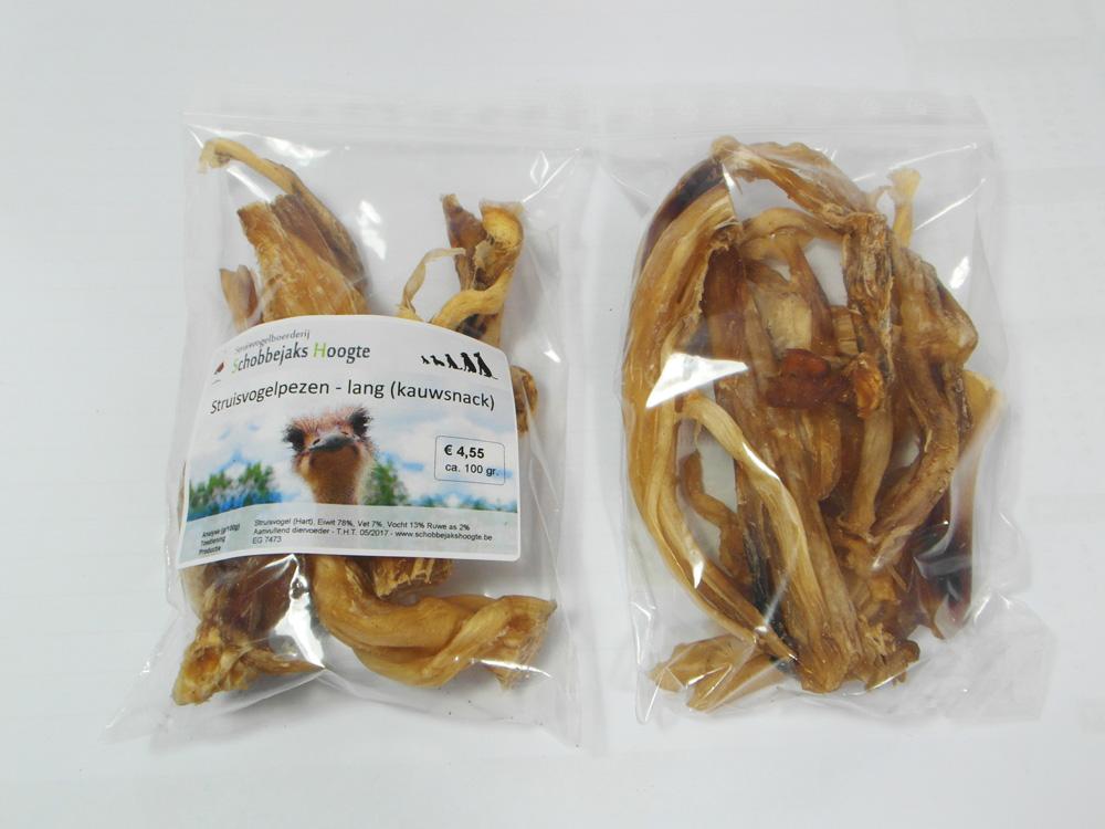 Pezen van een struisvogel (lang) - Hondensnack