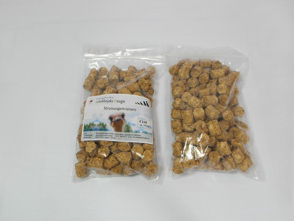 Struisvogeltrainers - Hondenvoeding